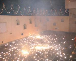 It is glamorous for many to burst crackers in Diwali. Credit: Wikimedia Commons