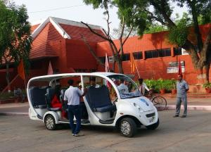 Electric vehicles in public transport system