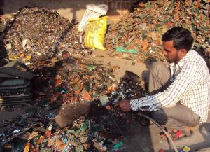 In 2016, the world generated 44.7 million metric tonnes (Mt) of e-waste, of which only 20 per cent was recycled.  Credit: Sadia Sohail/CSE