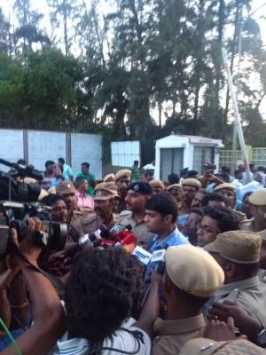 District collector Sandeep Nanduri speaking to the press after sealing Sterlite plant and says that the shut down is permanent. Credit: Akshit Sangomla