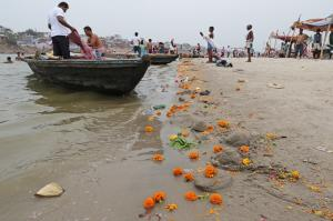 Flower pollution is often overlooked while crafting policies towards cleaning the Ganga. Credit: Vikas Choudhary