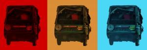 Three-wheeled devil on diesel