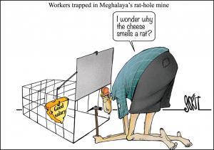 Meghalaya hole mining