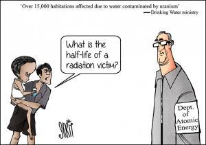 Water contaminated by uranium