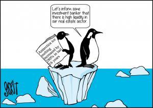 Climate change - Antaractica ice melting
