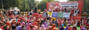 Anganwadi workers hit the streets in protest