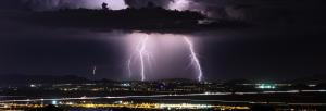 What caused 41,000 lightning strikes across India on April 16?