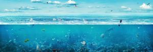 Microplastic in Atlantic: Ocean lab near Bermuda Triangle