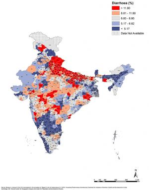 Elections 2019: Maps that explain state of development in parliamentary constituencies : Diarrhoea (%)
