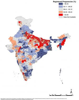 Elections 2019: Maps that explain state of development in parliamentary constituencies : Registered Pregnancies (%)