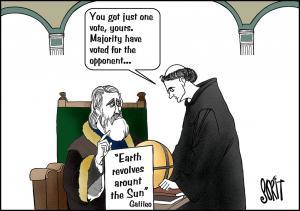 Earth revolves around the Sun