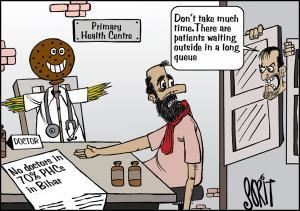 No doctors in 70% PHCs in Bihar