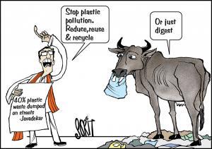 Plastic waste dumped on streets