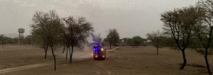Tracking locust attack: Jaipur firemen go the extra mile to resist invasion