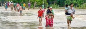 Concerns over social-distancing as floods affect 300,000 in Assam