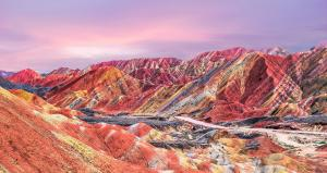 The most beautiful addition to the list of geoparks is Zhangye in China's Gansu province. Located in Zhangye City, which was an important township on the ancient Silk Road, trade route between China and the West. The most notable feature of the geopark is