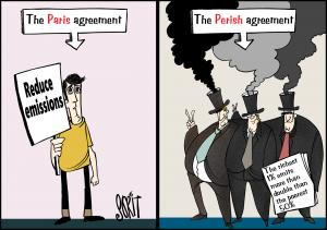 Paris Agreement or perish. Cartoon: Sorit Gupto