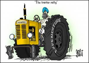 Simply Put: The farmer's tractor. Cartoon: Sorit Gupto