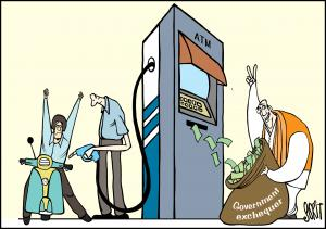 Simply Put: Pump the cash. Cartoon: Sorit Gupto
