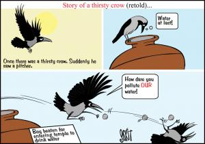 Simply Put: The Thirsty Crow's story retold