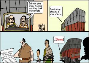 Simply Put: SIlencing pollution. Cartoon: Sorit Gupto
