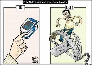 COVID-19 bills cartoon: Sorit Gupto