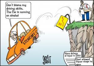 Drink-driving economy cartoon: Sorit Gupto
