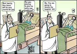 Crucial for hospitals cartoon: Sorit Gupto