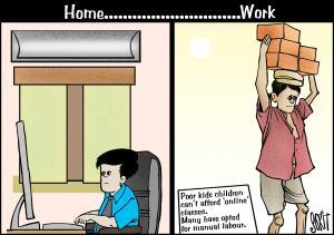 Home ... work cartoon: Sorit Gupto