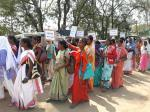 Huge protest in Jharkhand against cash transfer scheme