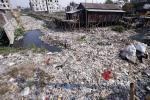 Plastic chokes Dhaka's drainage