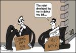 Simply put: Robots grabbing jobs