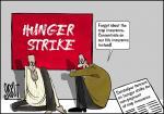Simply put: Farmers hunger strike