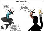 Simply put: The parasite