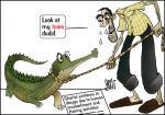Simply put: Crocodile & tears