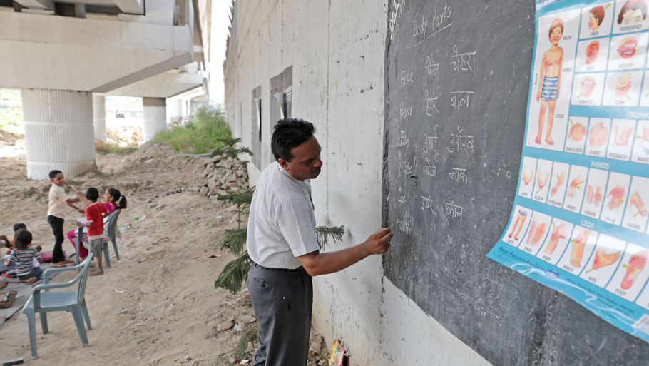 Bridging the gap: a school below Delhi Metro line