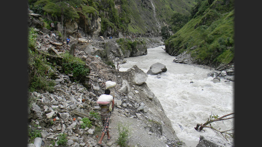 NHPC's 280 MW Dhauliganga power plant in Dharchula has been completely shut down after the June floods. It is expected to take another six months to re-start operations. According to NHPC, the cost of damages and subsequent restoration is estimated at about Rs 300 crore. Floods damaged various ancillary structures of the project like roads, residential and non-residential buildings Photographs by: Soma Basu Read more: Uttarakhand floods: is the disaster human-induced?