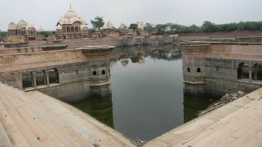 Brahma Kund, a pond in middle of Vrindavan, was restored by Braj Foundation. It is a major centre of attraction in the city today (Photograph by: Soma Basu)