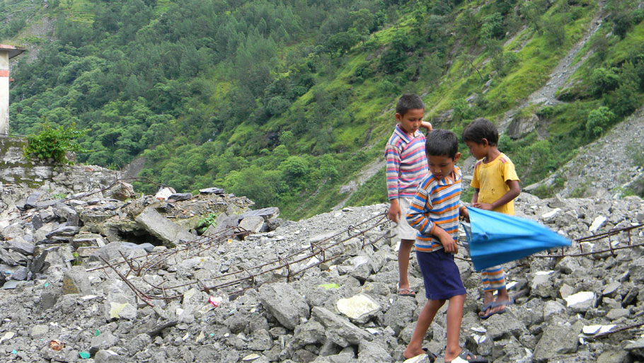 Debris being cleared from springs on Dharchula-Tawaghat road. If they are not cleared, the water would come down with greater force, leading to severe damage, says a local resident  Photographs by: Soma Basu Read more: Uttarakhand floods: is the disaster human-induced?