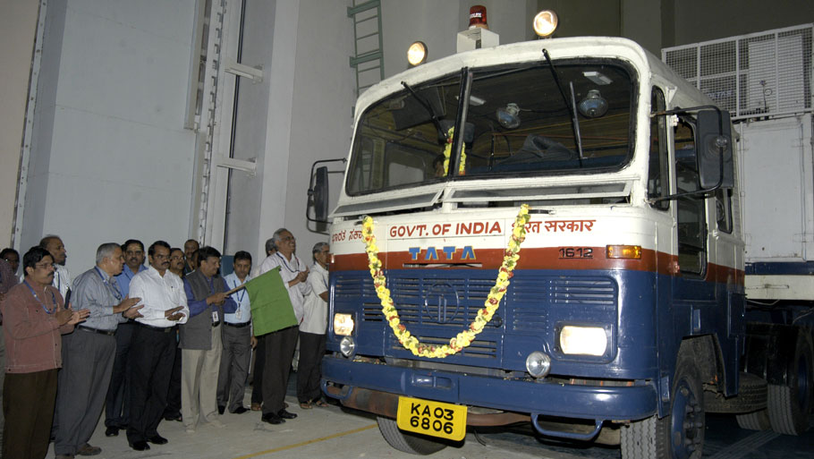 Mars orbiter is received at the Satish Dhawan Satellite Centre at SriharikotaPhotograph courtesy ISRO