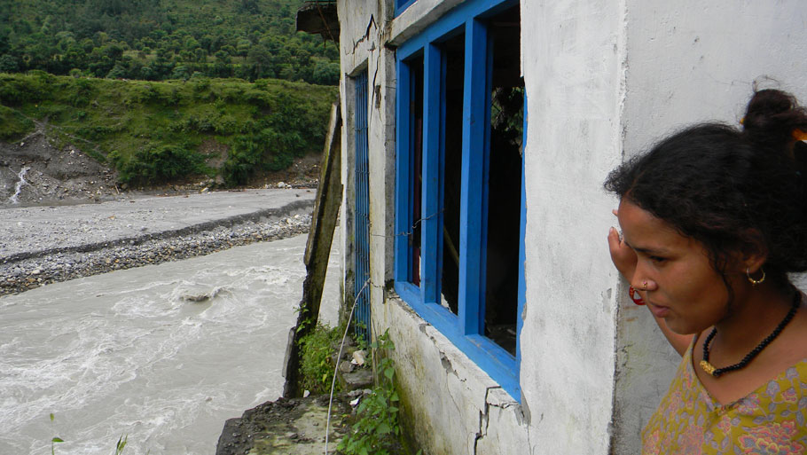 """Shyam Singh Khela, another resident of Tawaghat in Dharchula, lost his shop in the disaster. He had taken a bank loan of Rs 10 lakh to build the shop. He is taking loan from the market at high interest to repay bank interest. """"The patwari did not include my name in the list of beneficiaries. I don't know what to do now,"""" he says Photographs by: Soma Basu Read more: Uttarakhand floods: is the disaster human-induced?"""