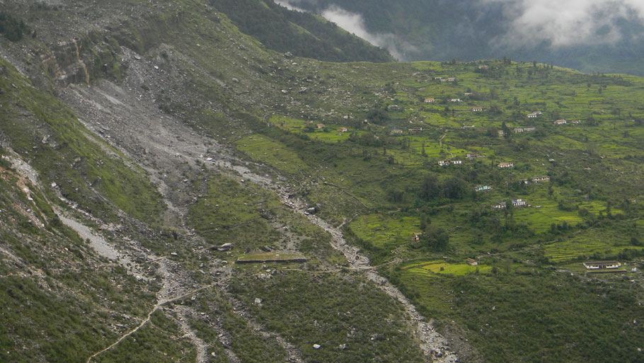 A deserted village in Munsiary, damaged by rains and landslide  Photographs by: Soma Basu Read more: Uttarakhand floods: is the disaster human-induced?