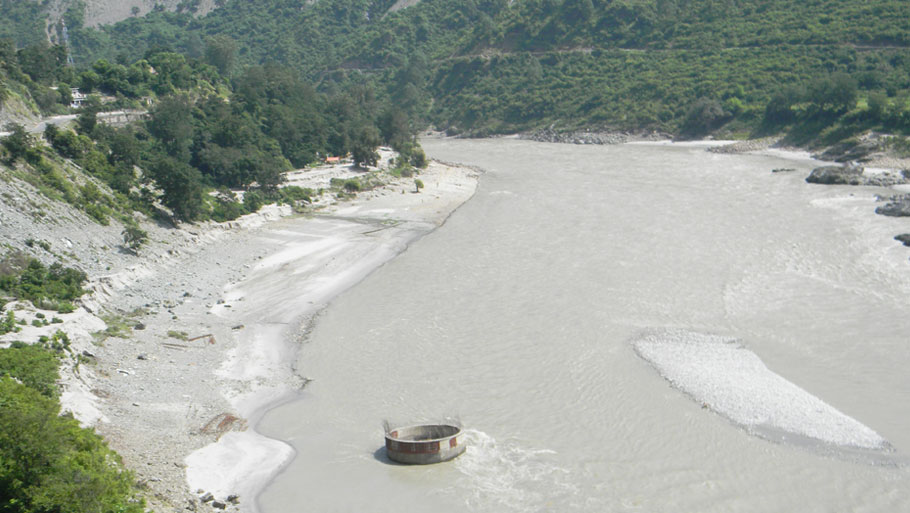 Twenty-seven houses in Gothi caved into the Kaliganga river in Pithoragarh that changed its course on June 17 Photographs by: Soma Basu Read more: Uttarakhand floods: is the disaster human-induced?