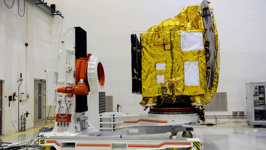 Deep Space Data Centre where all the data and information received from Mars orbiter will be storedPhotograph by Vibha Varshney