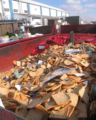 Food waste collected on the streets of Seoul, South Korea, for composting and pig feed Photoghraphs: Tristam Stuart
