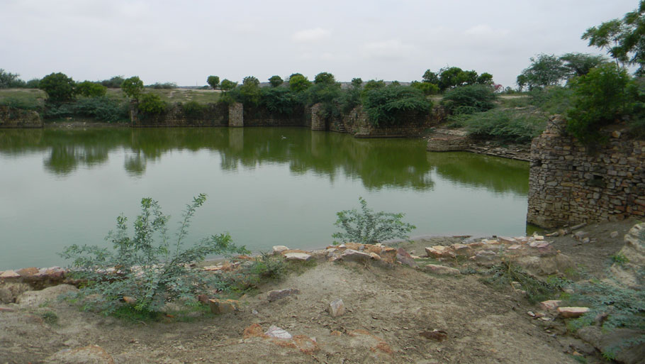 People of Barsana, Radha's village, believe that Radha still comes to Roop Kund, another water body in the area, every night to take a dip in water before performing Raasleela with Krishna. This kund was last restored in the medieval age by Raja Todarmal, the finance minister of Emperor Akbar.  The kund was in good shape till two decades ago when a devastating flood in the village left it covered with sand and silt after the water receded (Photograph by: Soma Basu)