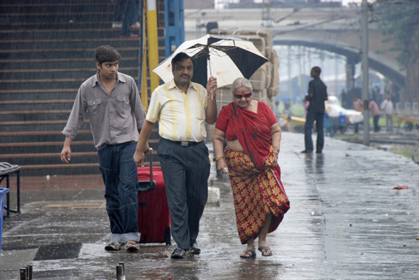 From stylish umbrellas to innovative raincoats, Delhi residents can be seen sporting fancy rain gear on the road. Read also:  Century of rainfallPhotograph by: Meeta Ahlawat