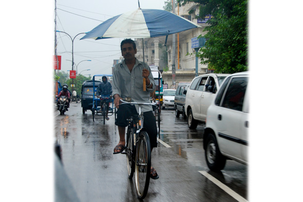 Poor road infrastructure and lack of segregation of slow and fast moving traffic often leads to congestion during monsoon.Read also:  Century of rainfallPhotograph by: Meeta Ahlawat