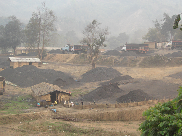 RongJeng mine dug up till the fresh coal seam, ready to be mined. Photograph by: Sugandh Juneja