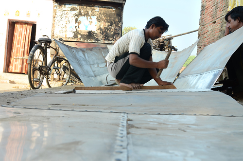 Wood is used to make the frame of the boat, the tin structure is attached later  Photographs by: Meeta AhlawatRead also: Natural highways
